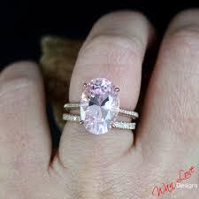 light pink engagement rings custom celebrity light pink white sapphire engagement ring