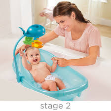 Infant To Toddler Bathtub Summer Infant Ocean Buddies Newborn To Toddler Baby Tub With Toy