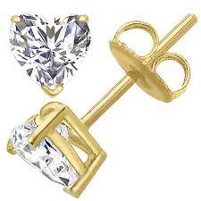 heart shaped diamond earrings heart shape diamond stud earrings with preset diamonds at diamondonnet
