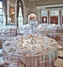 white and silver theme reception decorations2 wedding