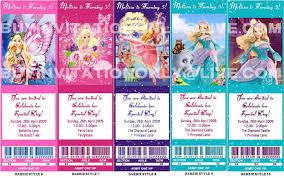 Barbie Invitation Card Barbie Personalised Birthday Invitations