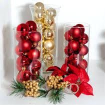bulk decorating idea ornament filled glass vases at dollartree