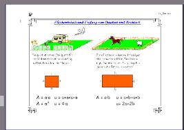 rechteck fläche berechnen fördern dreiecke vierecke vielecke prismen symmetrie