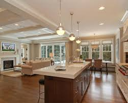 kitchen and family room ideas attractive kitchen family room design h59 about home remodeling