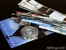 magazine coasters made from a pottery barn catalog all things g u0026d