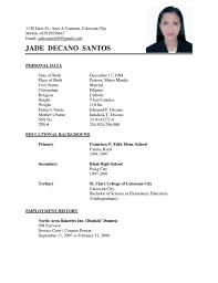 basic resume exles for students shocking simple resumes free sles exle ideas