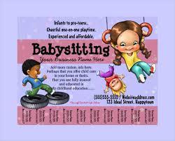 11 babysitting flyers psd pdf