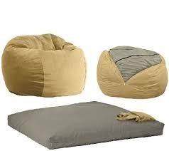 cordaroy u0027s full size convertible bean bag chair by lori greiner
