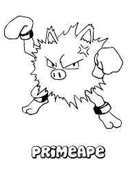 printable primeape pokemon coloring pix trials ireland