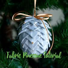 fabric pinecone ornament ornament along 2 mister domestic