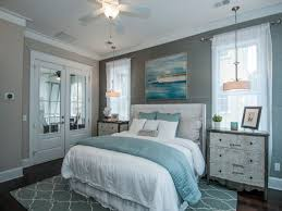 teal and gray bedroom home