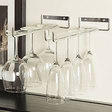 rack and hook stemware glass rack wine glass holder wall mount or