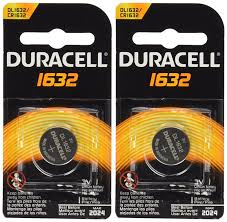 what size battery for lexus key fob amazon com 2 pcs duracell cr1632 1632 car remote batteries
