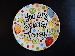birthday plate it s your special day 12 inch ceramic plate