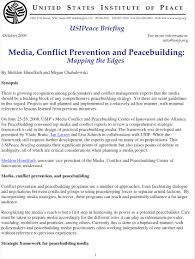 media conflict prevention and peacebuilding mapping the edges