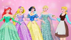 disney princess elsa ariel rapunzel snow white dress design game