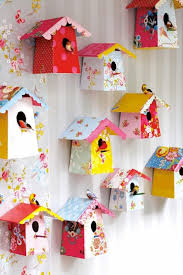 home decorating crafts diy paper birdhouses with templates diy paper birdhouse and