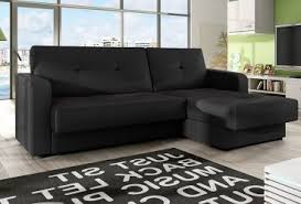 Black Sofa Bed Leather Sofa Bed With Storage Black Home Inside Out