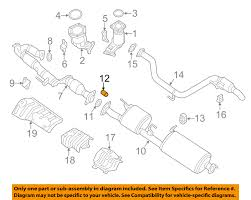 nissan frontier exhaust system nissan oem exhaust center pipe spring 200743ub0a ebay
