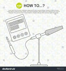 digital drawing website how sound recording digital voice recorder stock vector 360487034