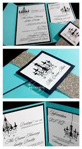 elegant sweet 16 invitations lindsey tiffany blue pocket fold suite invitations quinceanera