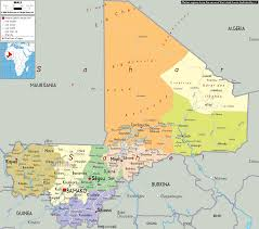 Political Maps Detailed Clear Large Map Of Mali Ezilon Maps