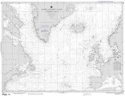 Nautical Maps Nga Chart 121 North Atlantic Ocean Northern Sheet