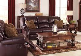 Commando Black Sofa Benchcraft Leather Rustic Sofas