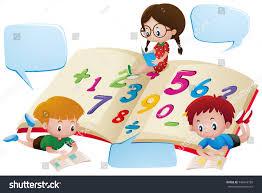 speech bubble template kids studying math stock vector 543443728