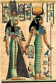 queen nefertari tattoo this papyrus depicts queen nefertari rendering homage to isis
