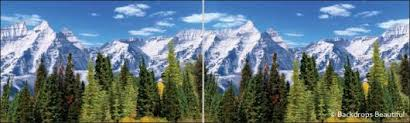 mountain backdrop aspen mountains backdrop 3 panel backdrops beautiful