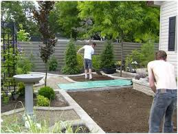 Backyard Simple Landscaping Ideas Backyards Bright Simple Landscape Backyard Design Home Ideas And