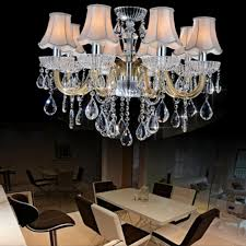 Glass Chandeliers For Dining Room Chandelier Light In Living Room Contemporary