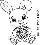 vectors illustration rabbit coloring white bunny peeking