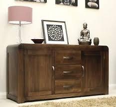 Shiro Solid Walnut Dark Wood Furniture Large Living Dining Room - Dining room sideboard