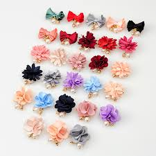 flower bow cloth 3d magnet nail decoration colorful flower bow tie