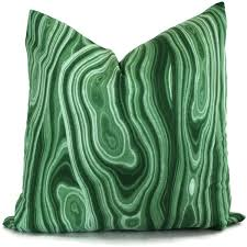Robert Allen Home Decor Fabric Green Malachite Pillow Cover Robert Allen 18x18 20x20 22x22