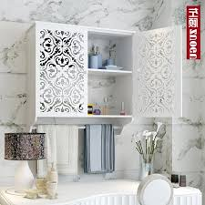 Over Toilet Shelf Bathroom Storage Wood Medicine Cabinet Towel Bar