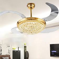 European Ceiling Lights Rs Lighting European Style Gold Ceiling Fan Acrylic Blades Fan