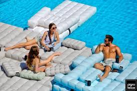 Blow Up Armchair Inflatable Pods Transform From Patio Lounges To Chairs Pool