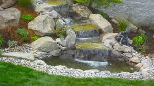 backyard pond ideas with waterfall easy backyard waterfalls