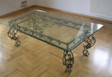 wrought iron coffee table with glass top wrought iron coffee table ebay