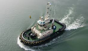powerful azimuth tugboat 2411 from stock provides 70 t bollard pull