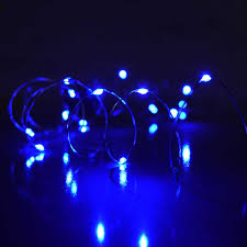 blue ultra thin twinkling lights 30 lights 60 inches