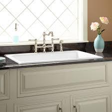 white kitchen sink 36 frattina cast iron drop in kitchen sink kitchen