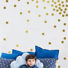 compare prices on gold wall decal online shopping buy low price beautiful wall stickers gold wall decal dots 200 decals easy to peel easy to stick