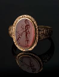 fine art rings images Oval gem with apollo and a young deer museum of fine arts boston jpg