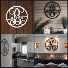 iron on monogram initials personalized family name sign