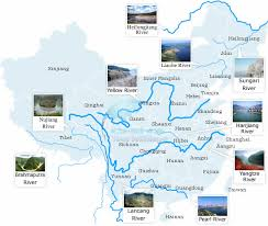 rivers in china map top 10 rivers in china maps of rivers in china