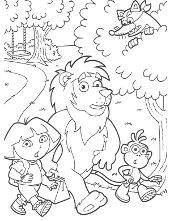 free dora coloring pages sheets books children